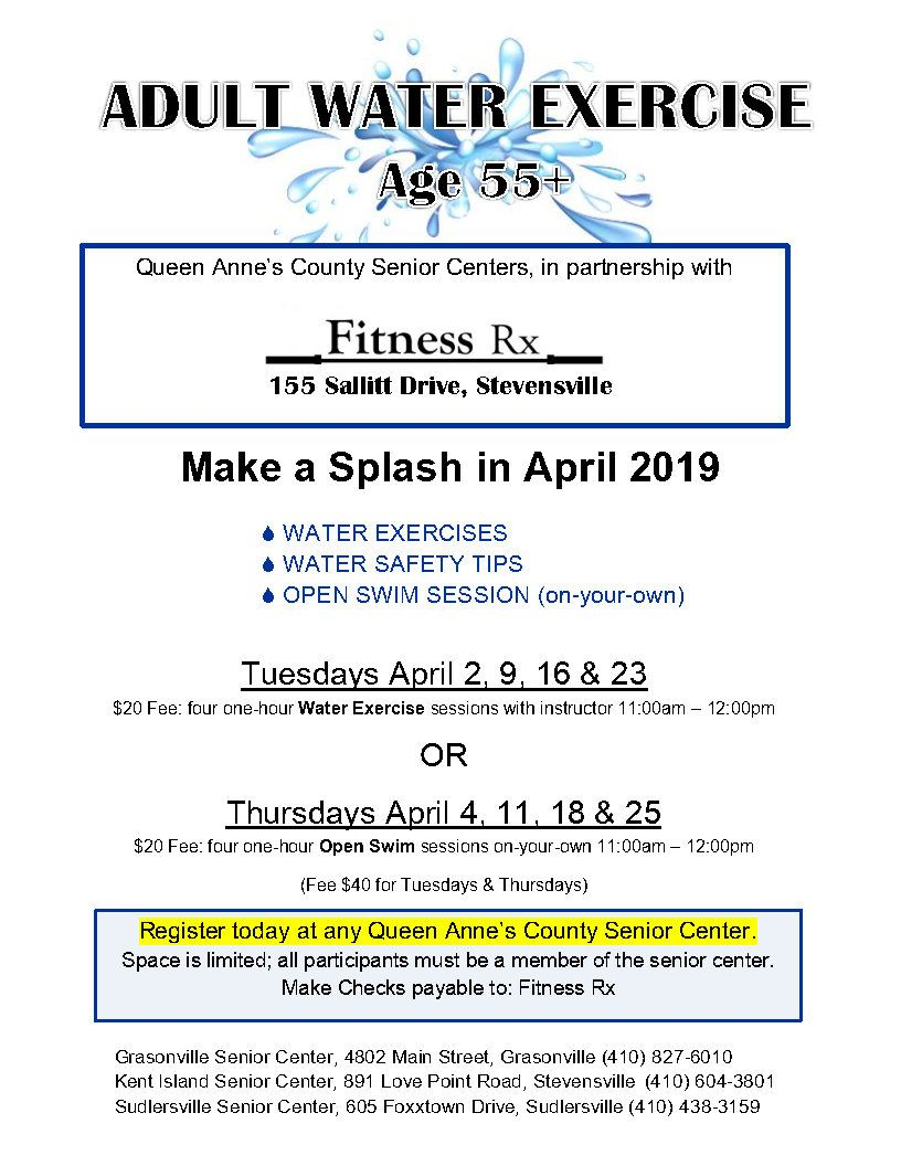 04 - April 2019 Water Exercise flyer _