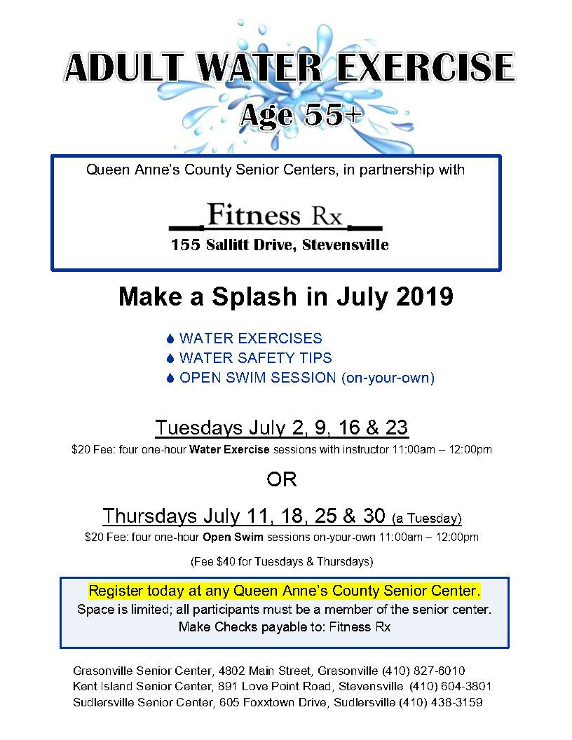 07 - July 2019 Water Exercise flyer _