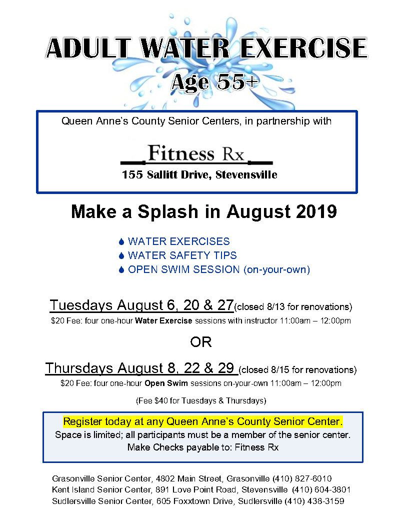 08 - August 2019 Water Exercise flyer _