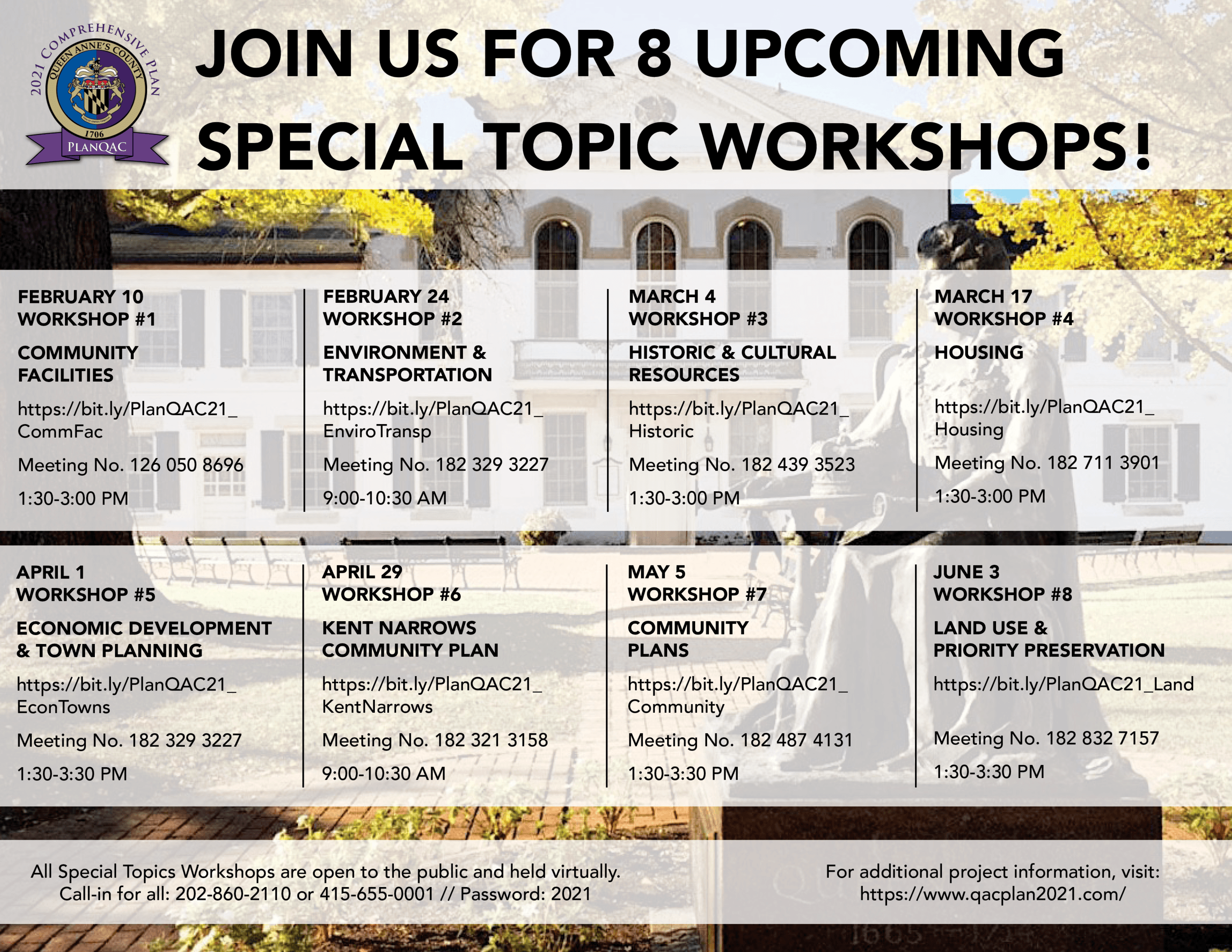 Special Topic Workshop Save the Date