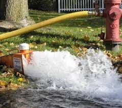 Pipes Flushing by a Fire Hydrant